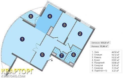 продам 3-комнатную квартиру. Киев, ул. Заречная 1Г. Цена: 114000$  (ID 1797594) - Фото 5