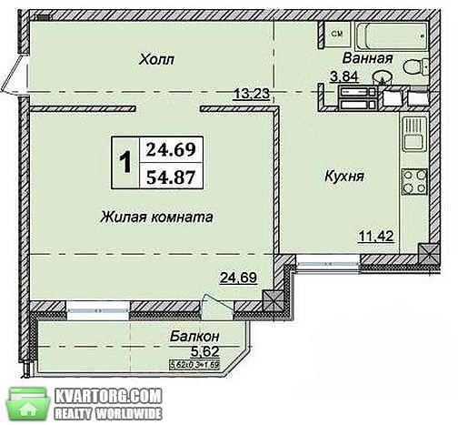 продам 1-комнатную квартиру. Киев, ул.Казимира  Малевича 66. Цена: 76000$  (ID 1797478) - Фото 2