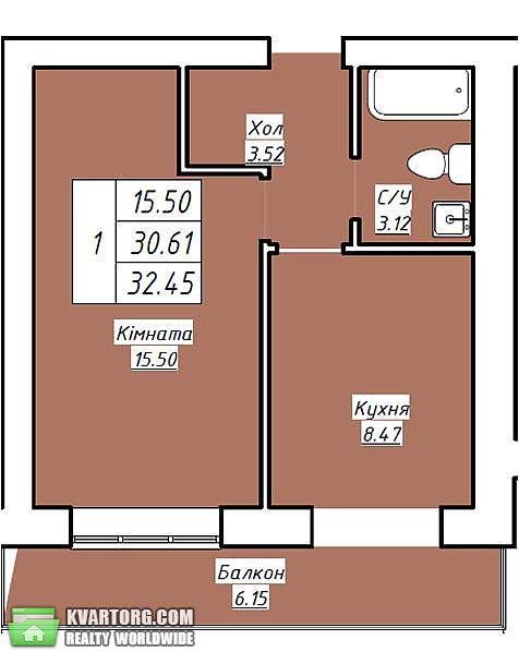 продам 1-комнатную квартиру. Вишневое, ул. Черновола 2. Цена: 12135$  (ID 1794459) - Фото 2