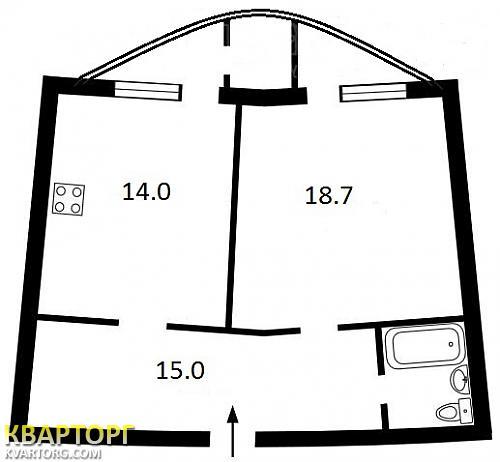 продам 1-комнатную квартиру. Киев, ул. Ахматовой 44. Цена: 60000$  (ID 1824619) - Фото 3
