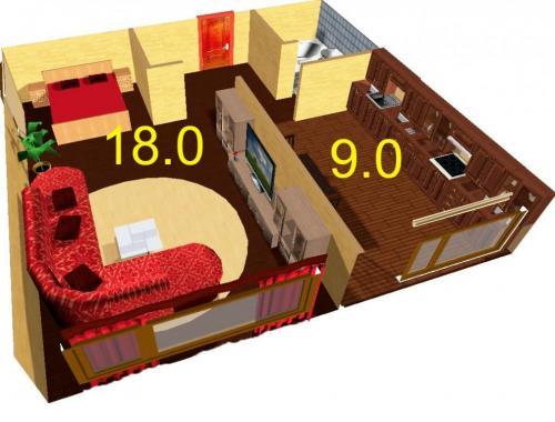 Дизайн 1 комнатной квартиры 36 кв.м