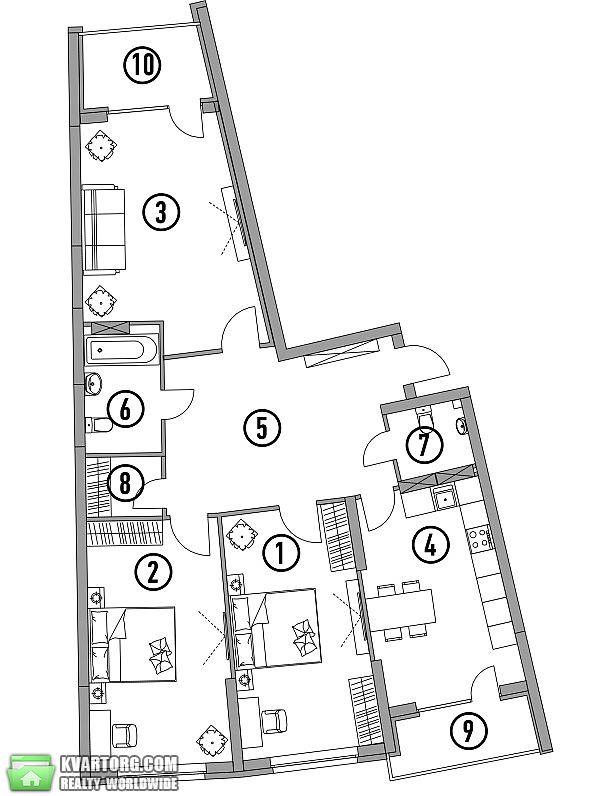 продам 3-комнатную квартиру. Киев, ул.А. Барбюса 28. Цена: 117000$  (ID 1795059) - Фото 3