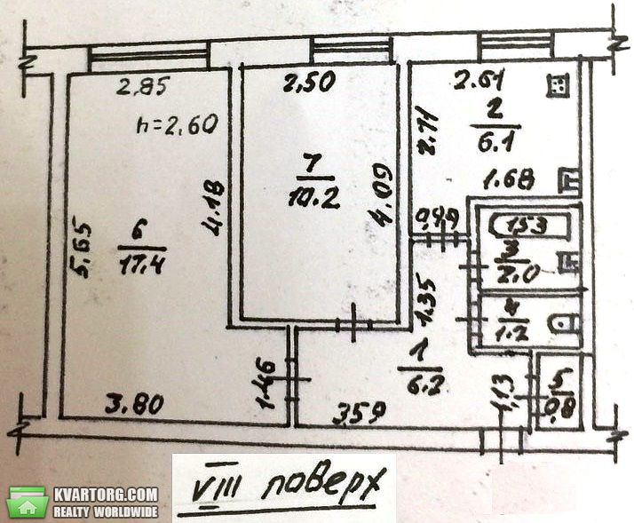продам 2-комнатную квартиру. Одесса, ул.Черняховского . Цена: 40000$  (ID 1797319)