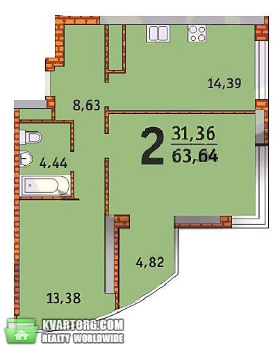 продам 2-комнатную квартиру. Киев, ул. Бажана 1А. Цена: 75000$  (ID 1797385) - Фото 5