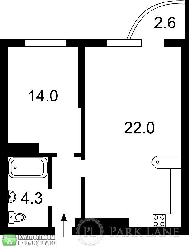 продам 1-комнатную квартиру. Киев, ул. Ломоносова 46/1. Цена: 52000$  (ID 1798332) - Фото 2