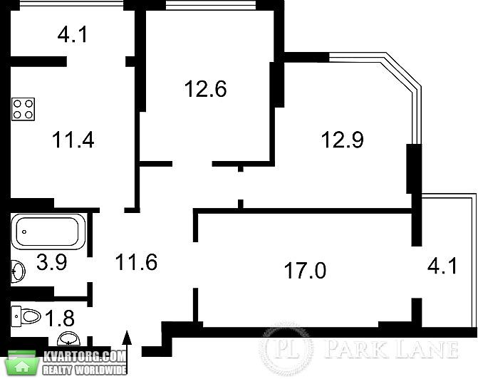 продам 3-комнатную квартиру. Киев, ул. Гмыри 17. Цена: 73900$  (ID 1797925) - Фото 2