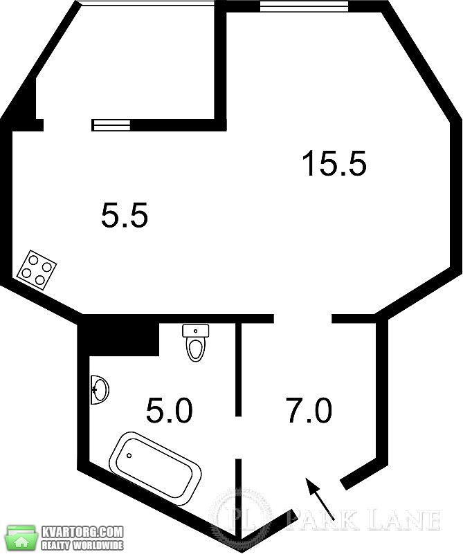 продам 1-комнатную квартиру. Киев, ул.Ващенко Григория 7. Цена: 37000$  (ID 1795677) - Фото 3