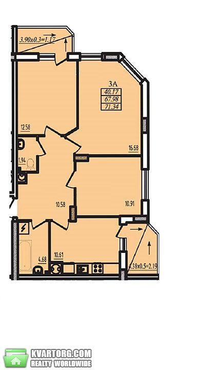 продам 3-комнатную квартиру. Одесса, ул.Радужный массив . Цена: 45000$  (ID 1796157) - Фото 2