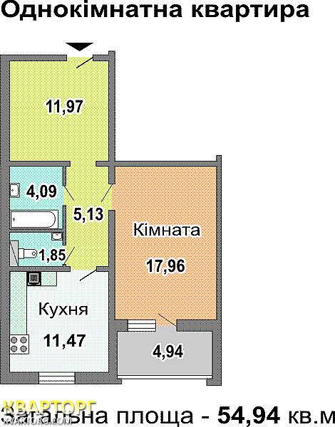 продам 1-комнатную квартиру. Киев, ул. Лисковская  7. Цена: 53000$  (ID 299713) - Фото 7