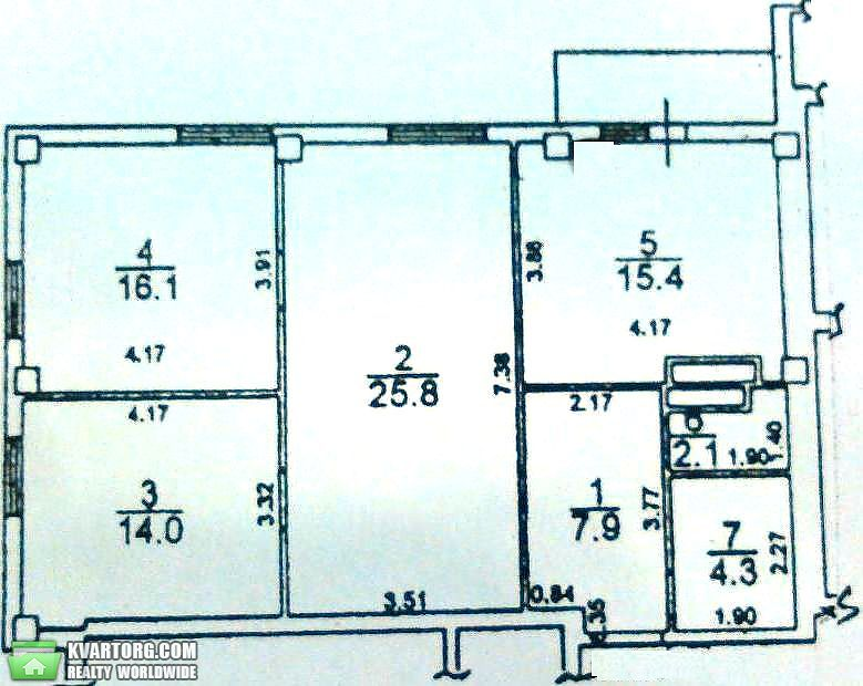 продам 3-комнатную квартиру. Одесса, ул.Грушевского . Цена: 39500$  (ID 1796939)