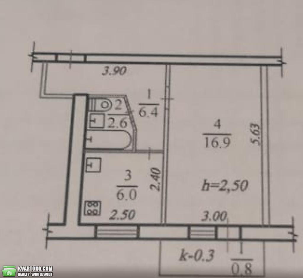 продам 1-комнатную квартиру Днепропетровск, ул. Гагарина пр - Фото 4