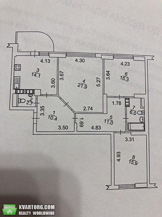 продам 3-комнатную квартиру. Киев, ул.Пчилки 2. Цена: 107000$  (ID 2041336) - Фото 10