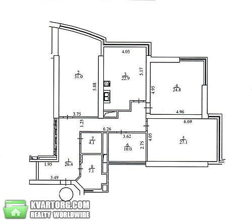 сдам 4-комнатную квартиру. Киев, ул. Кловский спуск 7а. Цена: 3000$  (ID 2058248) - Фото 4
