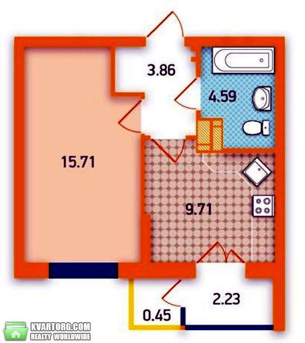 продам 1-комнатную квартиру. Киев, ул. Вербицкого 1. Цена: 28000$  (ID 2321128) - Фото 4