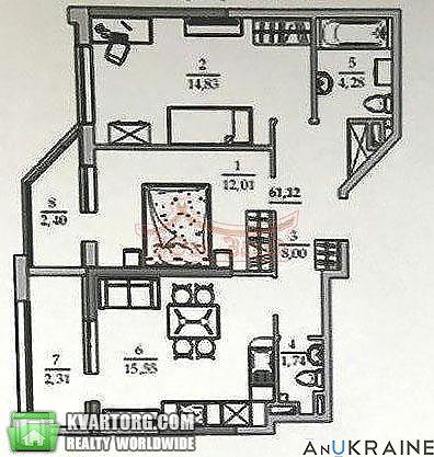 продам 2-комнатную квартиру. Одесса, ул.Ак.Вильямса . Цена: 36000$  (ID 2154584) - Фото 1