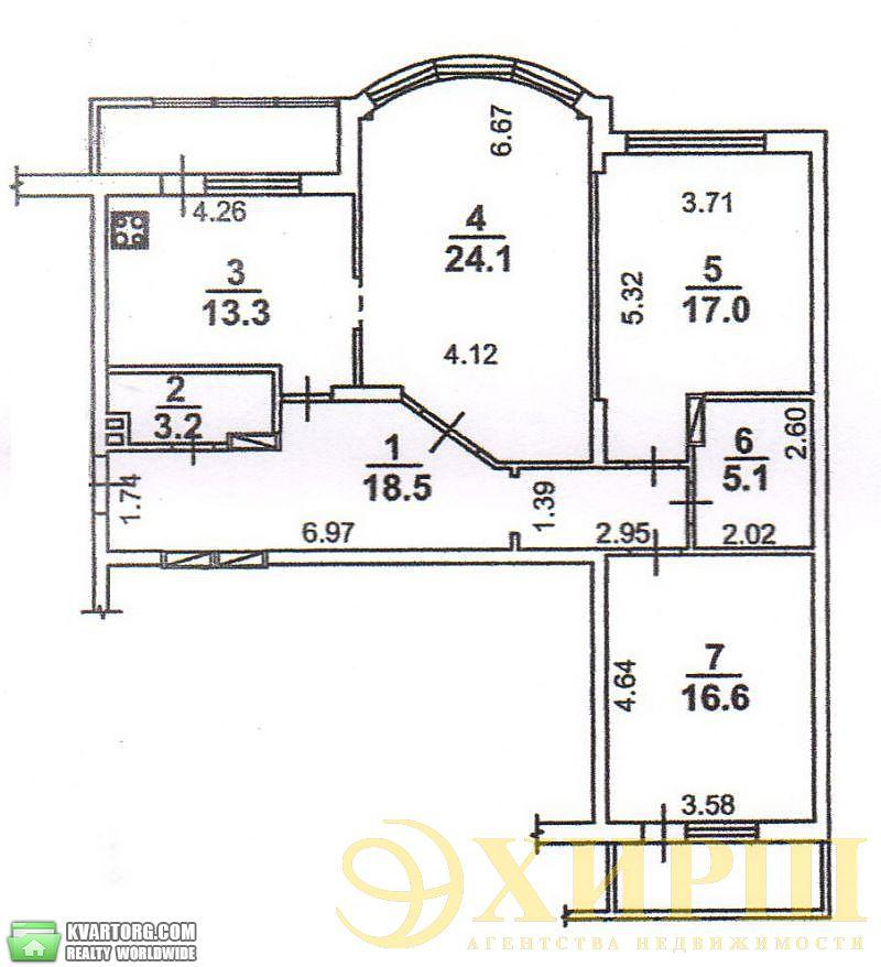 продам 3-комнатную квартиру. Киев, ул. Касияна 2/1. Цена: 135000$  (ID 2000961) - Фото 8