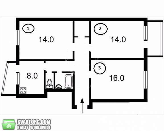 продам 3-комнатную квартиру. Киев, ул. Свободы пр 24. Цена: 42500$  (ID 2070281) - Фото 7