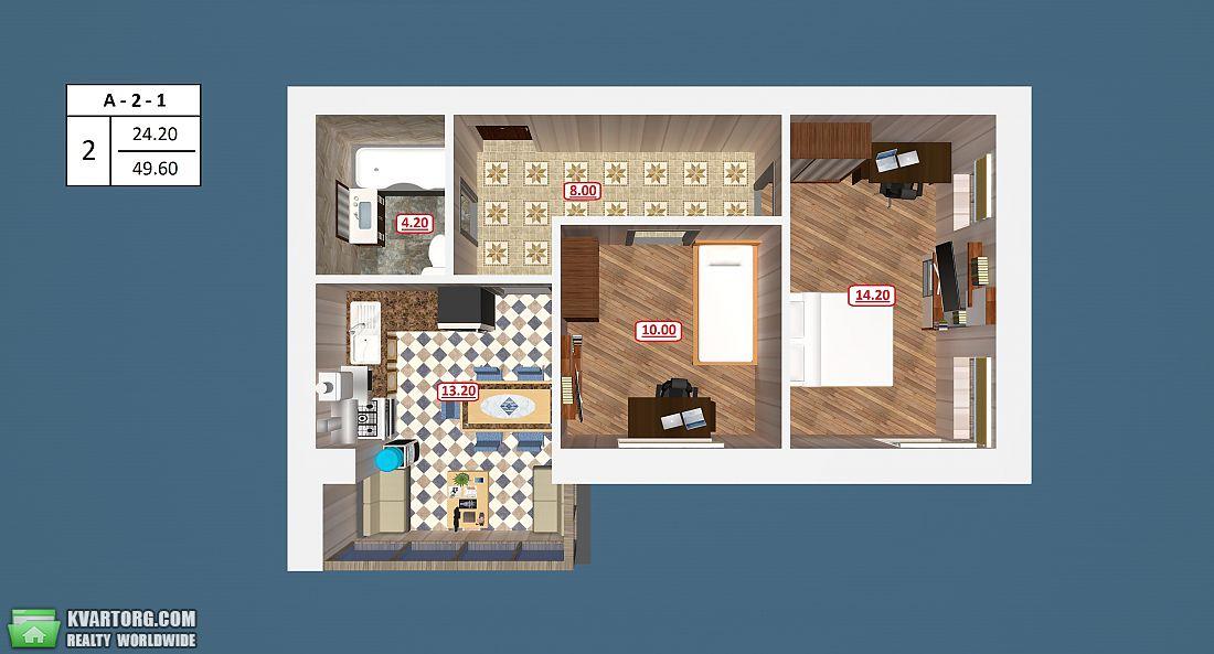 продам 2-комнатную квартиру. Ирпень, ул.гражданская 4. Цена: 24850$  (ID 2017097) - Фото 3