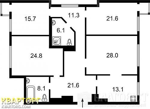 продам 4-комнатную квартиру Киев, ул. Краснозвездный пр 6г - Фото 2
