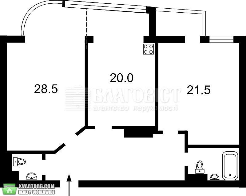 сдам 2-комнатную квартиру. Киев, ул. Московская 46/2. Цена: 1500$  (ID 2085833) - Фото 6