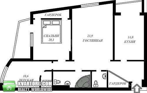 продам 3-комнатную квартиру Киев, ул.Героев Сталинграда пр 47а - Фото 2