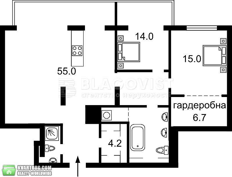 продам 3-комнатную квартиру Киев, ул. Леси Украинки бул 7в - Фото 1