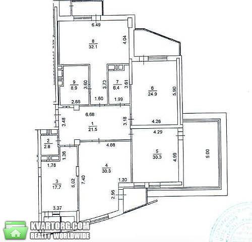продам 3-комнатную квартиру Киев, ул. Леси Украинки бул 7 - Фото 1