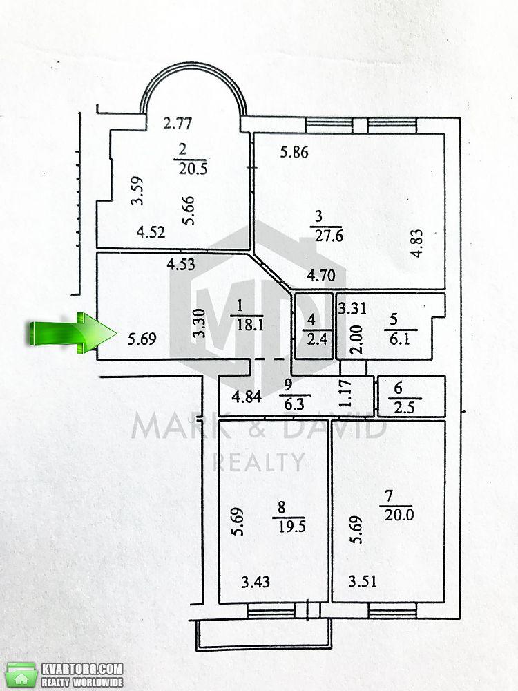 продам 3-комнатную квартиру. Киев, ул. Черновола 25. Цена: 219000$  (ID 2077875) - Фото 10