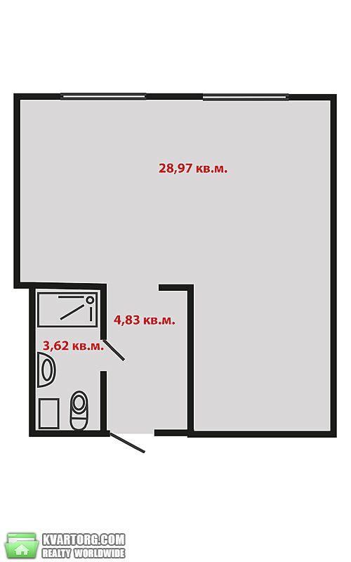 продам 1-комнатную квартиру. Киев, ул. Машиностроительная 39. Цена: 42000$  (ID 1795364) - Фото 1