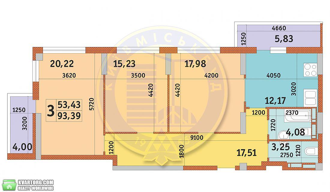 продам 3-комнатную квартиру. Киев, ул. Дубинина 2. Цена: 79700$  (ID 2100166) - Фото 2