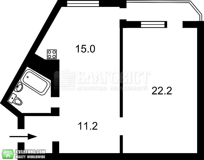 продам 1-комнатную квартиру. Киев, ул. Тимошенко 13а. Цена: 90000$  (ID 2100114) - Фото 2