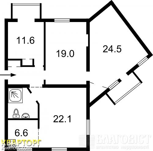 продам 4-комнатную квартиру Киев, ул. Цитадельная 5/9 - Фото 2