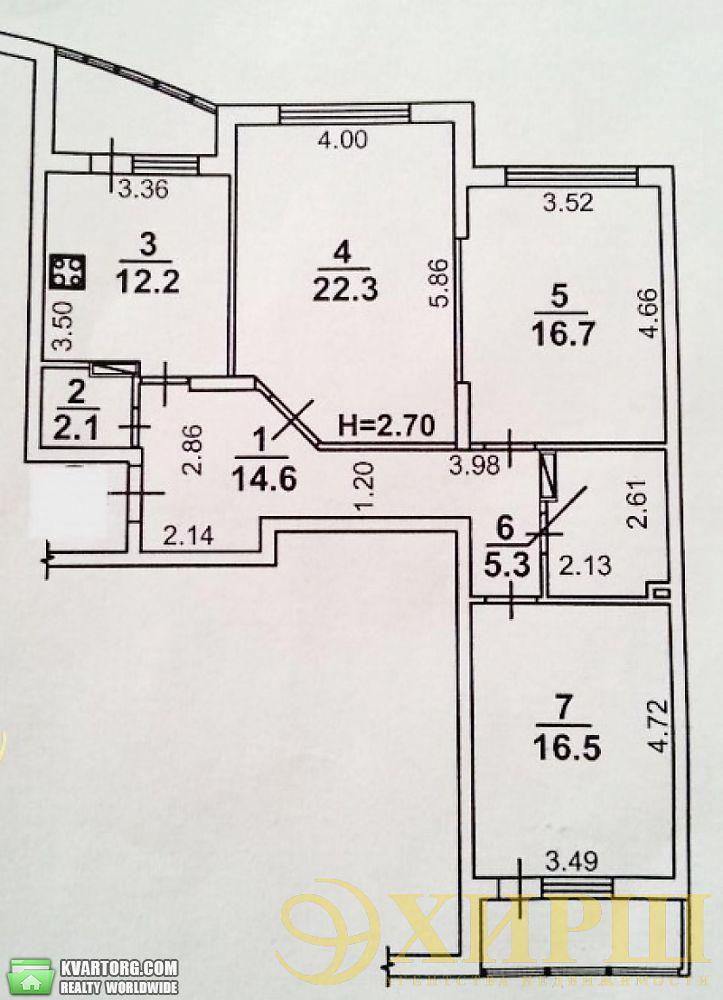 продам 3-комнатную квартиру. Киев, ул. Касияна 2/1. Цена: 115000$  (ID 2027675) - Фото 2