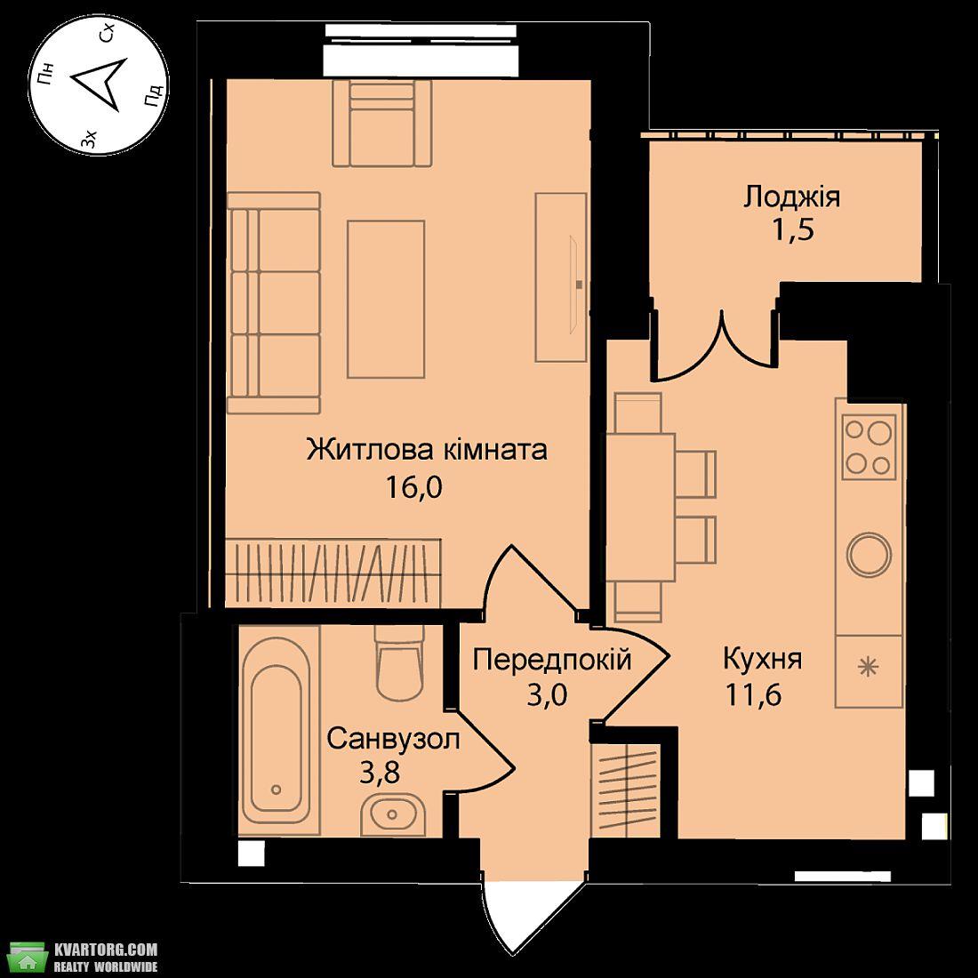 продам 2-комнатную квартиру Киев, ул.Соборная 119 - Фото 5