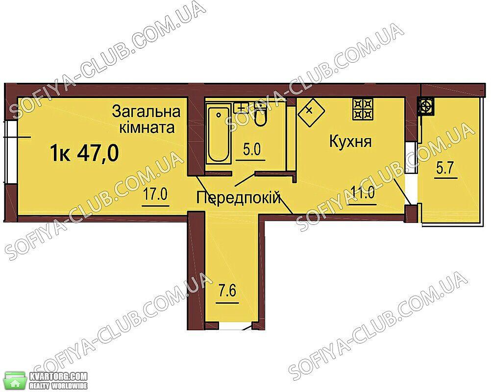 продам 1-комнатную квартиру. Киев, ул.Ленина 10а. Цена: 26211$  (ID 1798139)