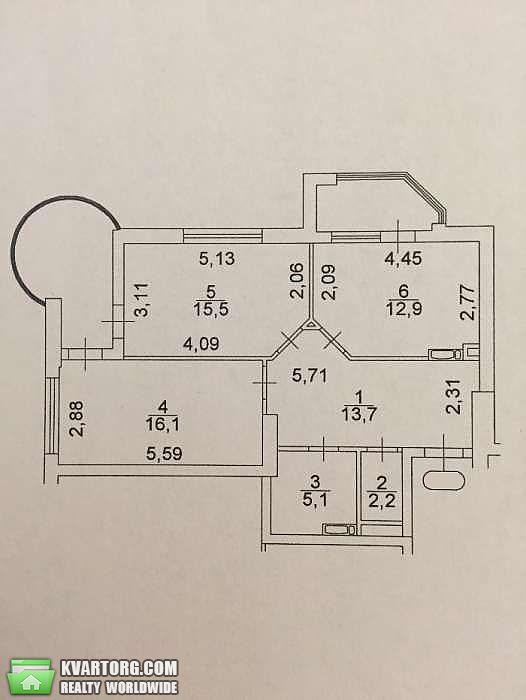 продам 2-комнатную квартиру. Киев, ул. Голосеевский пр 95. Цена: 115000$  (ID 2016691) - Фото 3