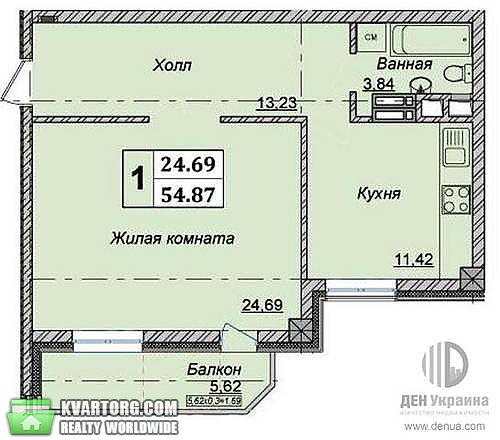 продам 1-комнатную квартиру. Киев, ул. Боженко 66. Цена: 76000$  (ID 1795048) - Фото 3