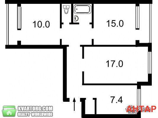 продам 3-комнатную квартиру. Киев, ул. Смолича 6. Цена: 48000$  (ID 2112044) - Фото 2