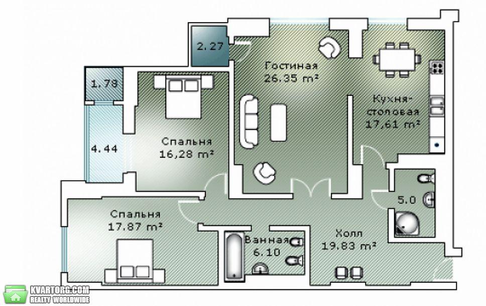 продам 3-комнатную квартиру. Киев, ул. Днепровская наб 1. Цена: 230000$  (ID 2016686) - Фото 2