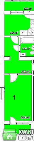 продам 1-комнатную квартиру. Вишневое, ул.подольская 10. Цена: 20000$  (ID 1797005)