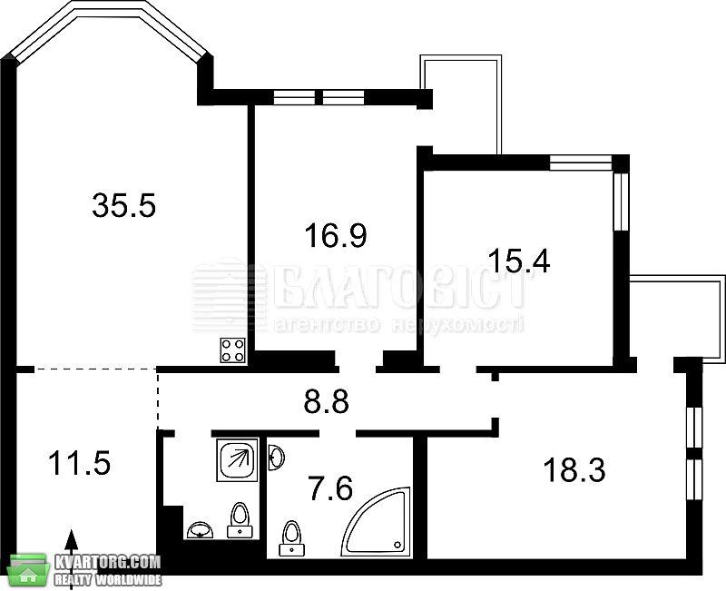 продам 3-комнатную квартиру. Киев, ул. Тимошенко 29. Цена: 175000$  (ID 2100123) - Фото 5