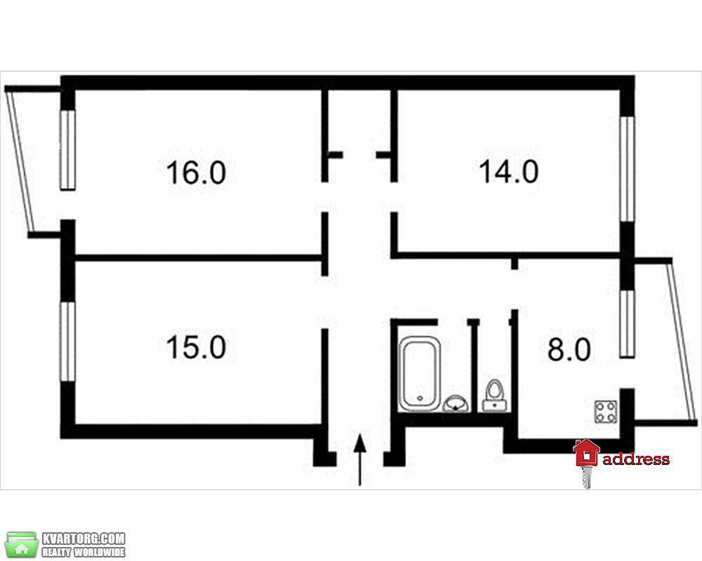 продам 3-комнатную квартиру Киев, ул. Оболонская площадь 1 - Фото 4