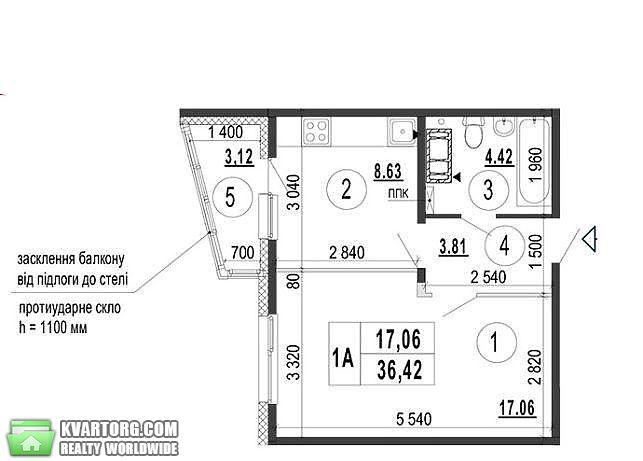 продам 1-комнатную квартиру. Киев, ул.ЖК  21. Цена: 34500$  (ID 2234158) - Фото 2