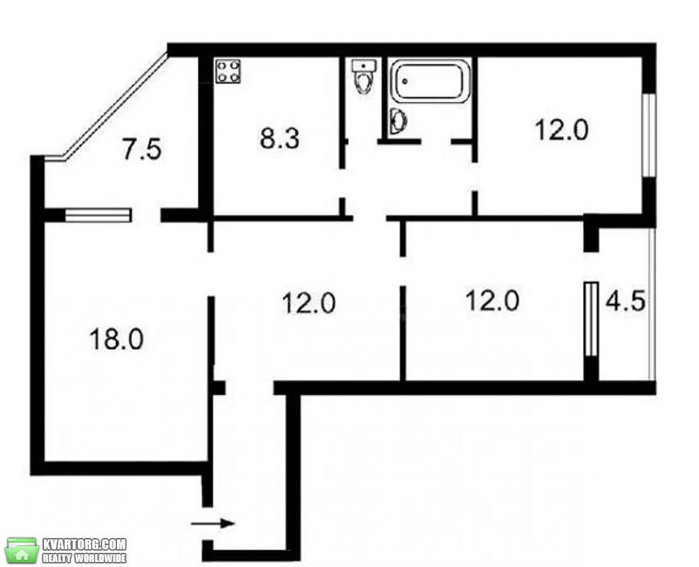 продам 3-комнатную квартиру Киев, ул. Героев Сталинграда пр 60 - Фото 9