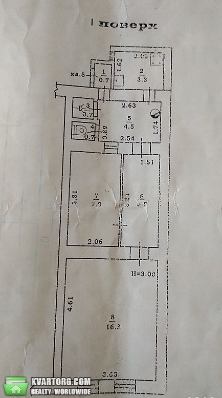 продам 2-комнатную квартиру. Одесса, ул.Бабаджаняна . Цена: 29500$  (ID 2231781) - Фото 3