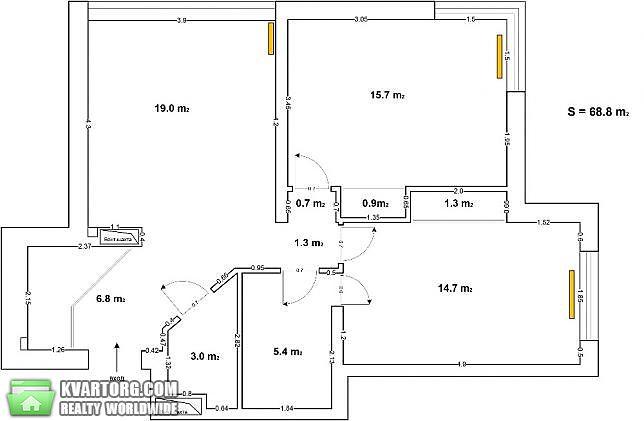продам 2-комнатную квартиру. Киев, ул. Драгоманова 2б. Цена: 79000$  (ID 2112459) - Фото 7