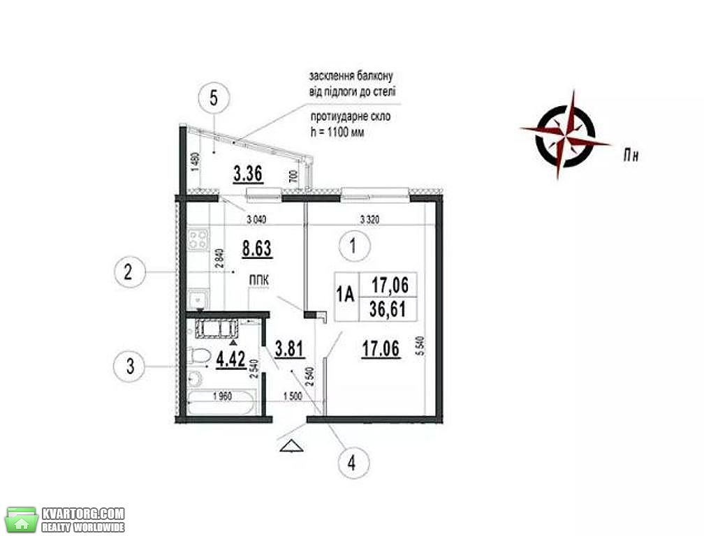 продам 1-комнатную квартиру. Киев, ул.Чавдар . Цена: 40500$  (ID 2256401)