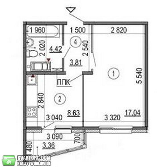 продам 1-комнатную квартиру Киев, ул. Глушкова пр 6 - Фото 2