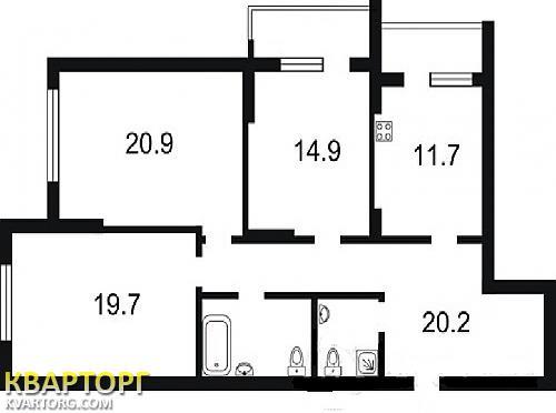 продам 3-комнатную квартиру Киев, ул.улица Игоря Сикорского 1Б - Фото 2