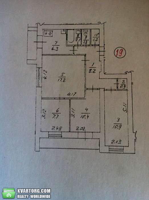 продам 3-комнатную квартиру. Киев, ул.Попова 8. Цена: 39800$  (ID 2027543) - Фото 6